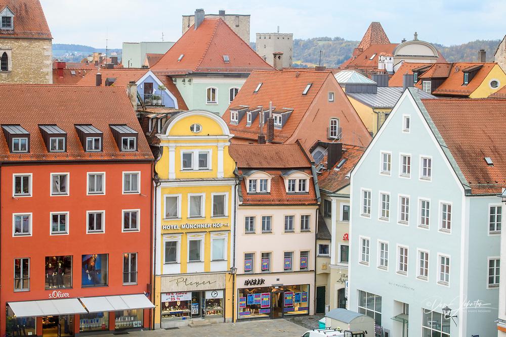 City buildings, Regensburg, Bavaria, Germany