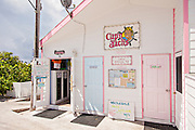 Famous Captain Jacks bar and restaurant in the tiny village of Hope Town, Elbow Cay Abacos, Bahamas.