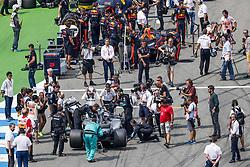 July 22, 2018 - Hockenheim, Germany - Motorsports: FIA Formula One World Championship 2018, Grand Prix of Germany, . Starting Grid, #44 Lewis Hamilton (GBR, Mercedes AMG Petronas Motorsport) (Credit Image: © Hoch Zwei via ZUMA Wire)