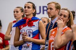01-10-2017 AZE: Final CEV European Volleyball Nederland - Servie, Baku<br /> Nederland verliest opnieuw de finale op een EK. Servië was met 3-1 te sterk / Milena Rasic #16 of Servië