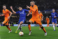 Football - 2018 / 2019 Europa League - Group L: Chelsea vs. PAOK Salonika<br /> <br /> Pedro of Chelsea and Omar El Kaddouri of PAOK at Stamford Bridge.<br /> <br /> COLORSPORT/ANDREW COWIE