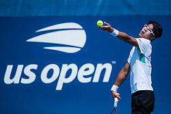 August 28, 2018 - Flushing Meadow, NY, U.S. - FLUSHING MEADOW, NY - AUGUST 28: HYEON CHUNG (KOR) day two of the 2018 US Open on August 20, 2018, at Billie Jean King National Tennis Center in Flushing Meadow, NY. (Photo by Chaz Niell/Icon Sportswire) (Credit Image: © Chaz Niell/Icon SMI via ZUMA Press)