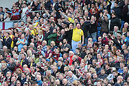 BURNLEY FANS during the Sky Bet Championship match between Brighton and Hove Albion and Burnley at the American Express Community Stadium, Brighton and Hove, England on 2 April 2016.