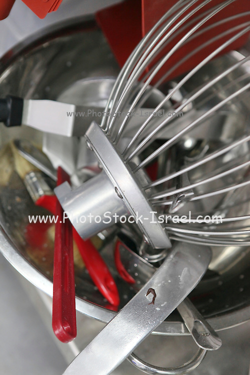Baking Concept - tools used in baking: mixer, spatula and brush