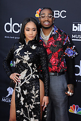 Saweetie and Quavo at the 2019 Billboard Music Awards held at the MGM Grand Garden Arena in Las Vegas, USA on May 1, 2019.