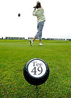 AMSTELVEEN - tees op golfclub Amsteldijk. FOTO KOEN SUYK.
