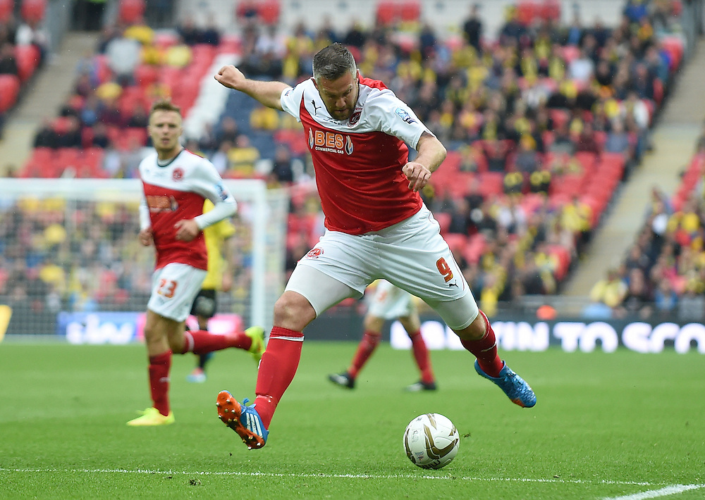 Fleetwood Town's Jonathan Parkin in action during todays match  <br /> <br /> Photographer Ian Cook/CameraSport<br /> <br /> Football - The Football League Sky Bet League Two Play-Off Final - Burton Albion v Fleetwood Town - Mondat 26th May-2014 - Wembley Stadium - London<br /> <br /> © CameraSport - 43 Linden Ave. Countesthorpe. Leicester. England. LE8 5PG - Tel: +44 (0) 116 277 4147 - admin@camerasport.com - www.camerasport.com