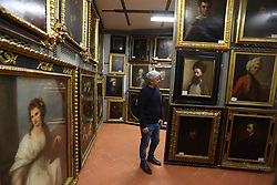 Italy, Florence - April 9, 2019.The depot of the Uffizi Gallery of Florence, Galleria degli Uffizi called..Michele Murrone, member of the museum's technical team and warted  of the deposit (Credit Image: © Fusi/Fotogramma/Ropi via ZUMA Press)