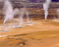 Steam vents at Námafjall geothermal area, Iceland Europe