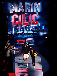 Marin Cilic arrives ahead of his singles match during day six of the Nitto ATP Finals at The O2 Arena, London.