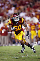 1 September 2007: MLB #58 Rey Maualuga in action during the USC Trojans college football team defeated the Idaho Vandals 38-10 at the Los Angeles Memorial Coliseum in CA.  NCAA Pac-10 #1 ranked team first game of the season.