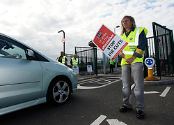 .© licensed to London News Pictures. NEWCASTLE 30/06/11. Striking workers on the picket line at HMRC Benton Newcastle Upon Tyne. Please see special instructions for usage rates. Photo credit should read John Millard/LNP