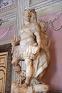 """""""The Room of the Bodyguards"""" - The statue of Alessandro Farnese dressed as a Roman commander being crowned for the victory over the people of Flanders and returning them to Roman Catholisism. The statue is by Simone Moschino.The Kings of Naples Royal Palace of Caserta, Italy. A UNESCO World Heritage Site .<br /> <br /> Visit our ITALY HISTORIC PLACES PHOTO COLLECTION for more   photos of Italy to download or buy as prints https://funkystock.photoshelter.com/gallery-collection/2b-Pictures-Images-of-Italy-Photos-of-Italian-Historic-Landmark-Sites/C0000qxA2zGFjd_k<br /> <br /> <br /> Visit our EARLY MODERN ERA HISTORICAL PLACES PHOTO COLLECTIONS for more photos to buy as wall art prints https://funkystock.photoshelter.com/gallery-collection/Modern-Era-Historic-Places-Art-Artefact-Antiquities-Picture-Images-of/C00002pOjgcLacqI"""