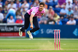 Steven Finn of Middlesex in action<br /> <br /> Photographer Craig Thomas/Replay Images<br /> <br /> Vitality Blast T20 - Round 4 - Glamorgan v Middlesex - Friday 26th July 2019 - Sophia Gardens - Cardiff<br /> <br /> World Copyright © Replay Images . All rights reserved. info@replayimages.co.uk - http://replayimages.co.uk