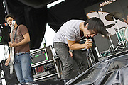 Armor For Sleep performs at Projekt Revolution at the Verizon Wireless Ampitheater in Saint Louis, MO on August 21, 2008.