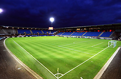 General view of the Blue Water Arena before the international friendly match between Denmark U21 and England U21. PRESS ASSOCIATION Photo. Picture date: Tuesday November 20, 2018. See PA story SOCCER Denmark U21. Photo credit should read: Simon Cooper/PA Wire. RESTRICTIONS: Use subject to FA restrictions. Editorial use only. Commercial use only with prior written consent of the FA. No editing except cropping.