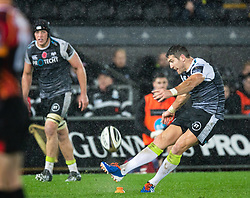 James Hook of Ospreys misses a penalty kick<br /> <br /> Photographer Simon King/Replay Images<br /> <br /> Guinness PRO14 Round 6 - Ospreys v Southern Kings - Saturday 9th November 2019 - Liberty Stadium - Swansea<br /> <br /> World Copyright © Replay Images . All rights reserved. info@replayimages.co.uk - http://replayimages.co.uk