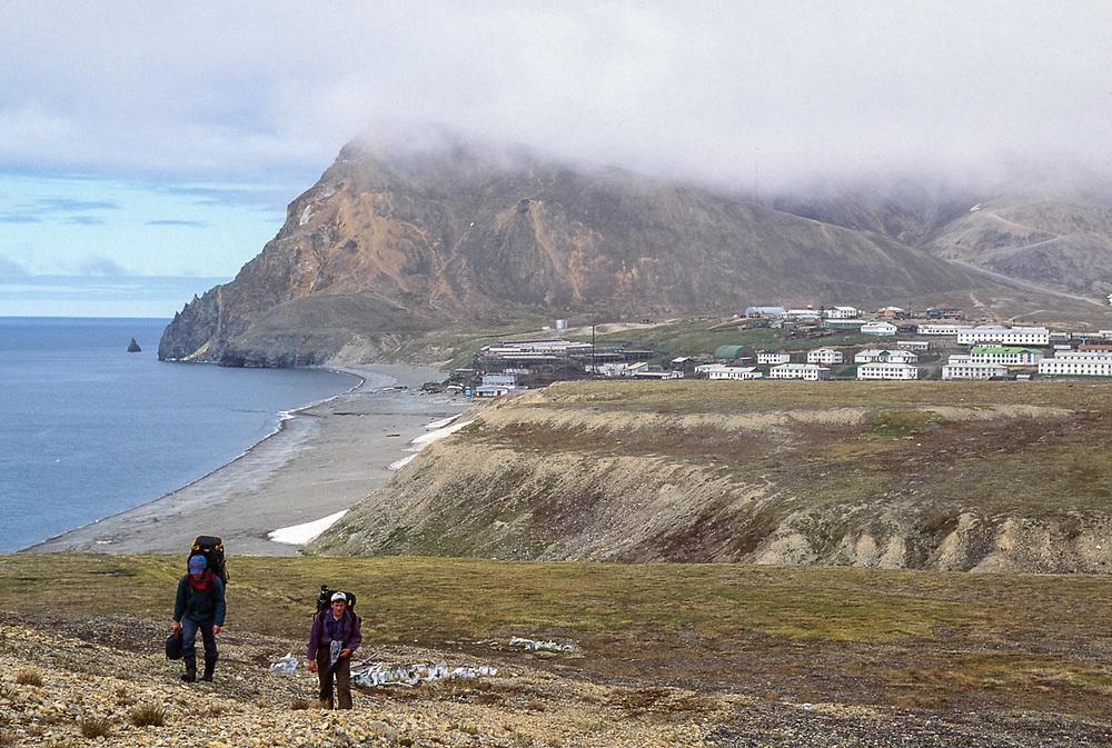 Afanassi Makovnev and Land Cole, Village of Sireniki, Gulf of Anadyr, Chukotsk Peninsula, NE Russia