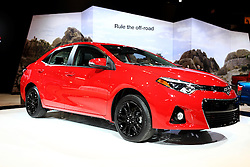 12 February 2015:  2016 TOYOTA COROLLA SPECIAL EDITION: As the world's best-selling name plate of all-time, Toyota Corolla fans will welcome the 2016 Toyota Corolla Special Edition debuting at the 107th annual Chicago Auto Show, Feb. 14-22, 2015. With its all-new 11th generation introduced in 2014, the current Corolla is the roomiest and most fuel-efficient ever. Toyota builds upon that by adding more driving excitement with the '16 Corolla Special Edition. Sporty styling features, inside and out, complement a spirited driving experience made possible with steering wheel paddle shifters, rear disc brakes and Sport Driving Mode along with Toyota's premium Entune audio with navigation and App Suite, plus the popular power tilt/slide moonroof. Based on the sporty Corolla S Plus grade, the 2016 Corolla Special Edition will turn heads as it adds: Unique 17-inch alloy wheels with gloss black finish, black interior with red contrast stitching red accented dash and door trim, Smart Key system with pushbutton start, three exclusive colors: Absolutely Red, Black Sand Pearl and Super White, and Special Edition floor mats with logo and unique exterior badge. Power is via a 140-horsepower 1.8-liter four-cylinder engine linked with the continuously variably transmission (CVT). The public can see the 2016 Corolla Special Edition now at the Chicago show, or wait till its production run between August and December 2015, limited to 8,000 units. The Toyota Camry is designed and engineered in Michigan, and assembled in Kentucky. <br /> <br /> First staged in 1901, the Chicago Auto Show is the largest auto show in North America and has been held more times than any other auto exposition on the continent. The 2015 show marks the 107th edition of the Chicago Auto Show. It has been  presented by the Chicago Automobile Trade Association (CATA) since 1935.  It is held at McCormick Place, Chicago Illinois