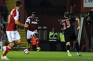 Bristol city's Jay Emmanuel-Thomas © shoots and scores the 1st goal.  Capital one cup match, 2nd round, Bristol city v Crystal Palace at Ashton Gate stadium in Bristol on Tuesday 27th August 2013. pic by Andrew Orchard , Andrew Orchard sports photography,