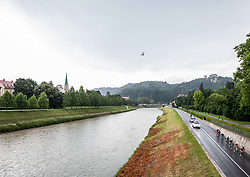 Peloton in Celje during 2nd Stage of 27th Tour of Slovenia 2021 cycling race between Zalec and Celje (147 km), on June 10, 2021 in Slovenia. Photo by Vid Ponikvar / Sportida