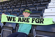 Fans go free during the Vanarama National League match between Forest Green Rovers and North Ferriby United at the New Lawn, Forest Green, United Kingdom on 1 April 2017. Photo by Alan Franklin.