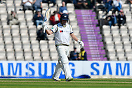 50 for Gary Ballance of Yorkshire - Gary Ballance of Yorkshire celebrates scoring a half century during the Specsavers County Champ Div 1 match between Hampshire County Cricket Club and Yorkshire County Cricket Club at the Ageas Bowl, Southampton, United Kingdom on 11 April 2019.