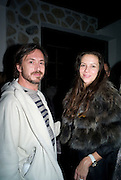 Marc Newson; Charlotte Stockdale,  Prada Congo Art Party hosted by Miuccia Pada and Larry Gagosian. The Double Club,  Torrens St. London EC1. The Double Club is A Carsten Holler project by Fondazione Prada. 10 February 2009.