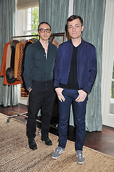 Left to right, Fay designers TOMMASO AQUILANO & ROBERTO RIMDONI at an exclusive preview of fashion label Fay latest collections held at 21 Collingham Road, London SW5 on 12th June 2012.