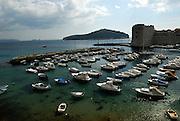 Dubrovnik harbour, Dubrovnik old town, Croatia