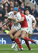 Twickenham. Great Britain.<br /> Jack NOWELL,wrapped up by Jamie ROBERTS during the RBS Six Nations Rugby, England vs Wales at the RFU Twickenham Stadium. England.<br /> <br /> Saturday  12/03/2016 <br /> <br /> [Mandatory Credit; Peter Spurrier/Intersport-images]