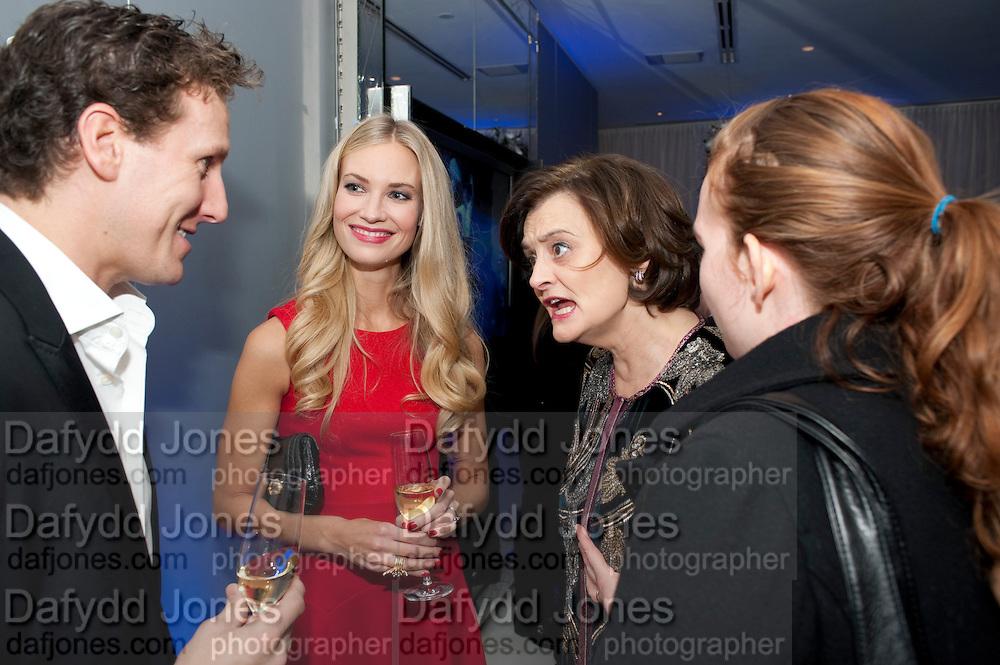 BRENDAN COLE; ZOE HOBBS; CHERIE BLAIR; KATHRYN BLAIREnglish National Ballet's party before performance of the ' The Nutcracker. St. Martin's Lane Hotel. London 14 December 2011.