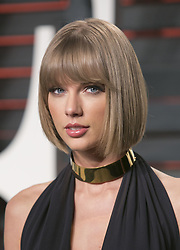 August 10, 2017 - Los Angeles, California, United States of America - Taylor Swift testified on Thursday August 10, 2017 in a Denver Court in Denver Colorado accusing DJ David Muller of groping her.  FILE PHOTO: Taylor Swift on the red carpet at the 2016 Vanity Fair Oscar Party held at the Annenberg Center in Beverly Hills, California, Sunday February 28, 2016. JAVIER ROJAS/PI (Credit Image: © Prensa Internacional via ZUMA Wire)