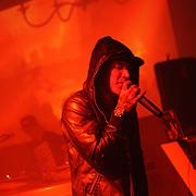 Rap duo Cobra Conda performs at the Beauty Bar in Denver, Colorado.
