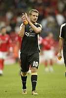 Photo: Aidan Ellis.<br /> Barnsley v Cardiff City. Coca Cola Championship. 29/09/2007.<br /> Cardiff's Stephen McPhail applauds the fans at the end