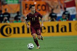 25-06-2006 VOETBAL: FIFA WORLD CUP: NEDERLAND - PORTUGAL: NURNBERG<br /> Oranje verliest in een beladen duel met 1-0 van Portugal en is uitgeschakeld / SIMAO SABROSA <br /> ©2006-WWW.FOTOHOOGENDOORN.NL