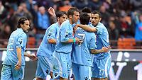 """esultanz di Campagnaro  del Milan<br /> Milano 21/3/2010 Stadio """"Giuseppe Meazza""""<br /> Milan Napoli<br /> Campionato di calcio di Serie A 2009/2010<br /> Foto Bibi Insidefoto"""