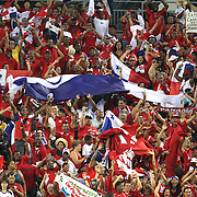 Panama fans celebrate a goal during a  CONCACAF Gold Cup soccer match between the United States and Panama on Saturday, June 11, 2011, at Raymond James Stadium in Tampa, Fla. (AP Photo/Alex Menendez)