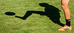 July 4, 2018 - Gelendzhik, Russia - 180704 The shadow of Oscar Hiljemark of the Swedish national football team at a practice session during the FIFA World Cup on July 4, 2018 in Gelendzhik..Photo: Petter Arvidson / BILDBYRN / kod PA / 92081 (Credit Image: © Petter Arvidson/Bildbyran via ZUMA Press)