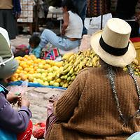 Americas, South America, Peru, Pisac. On the streets of Pisac Market.