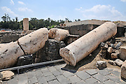 """Israel, Bet Shean (Scythopolis). In 64 BCE it was taken by the Romans, rebuilt, and made the capital of the Decapolis, the """"Ten Cities"""" of Samaria that were centers of Greco-Roman culture. The Agora"""