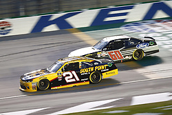 July 13, 2018 - Sparta, Kentucky, United States of America - Daniel Hemric (21) and Ty Majeski (60) battle for position during the Alsco 300 at Kentucky Speedway in Sparta, Kentucky. (Credit Image: © Chris Owens Asp Inc/ASP via ZUMA Wire)