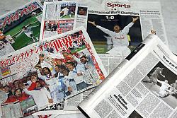 Jornais e revistas de todo o mundo publicaram a vitória colorada. FOTO: Jefferson Bernardes/Preview.com
