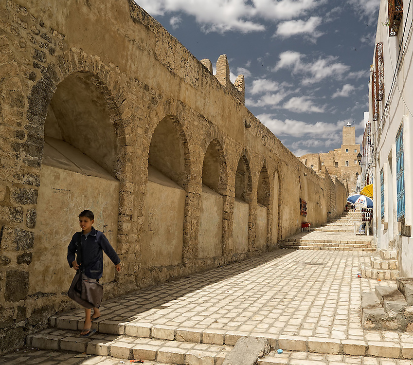 Tunisia - Medina street in Sousse