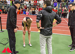 Galen Rupp set American record in 2-Mile at BU Terrier Classic Indoor Track, Rupp recovers after race with his coaches