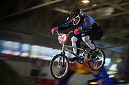 #66 (KLAUS Lieke) NED at the 2014 UCI BMX Supercross World Cup in Manchester.