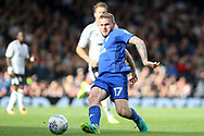 Aron Gunnarsson of Cardiff city in action. EFL Skybet football league championship match, Fulham v Cardiff city at Craven Cottage in London on Saturday 9th September 2017.<br /> pic by Steffan Bowen, Andrew Orchard sports photography.