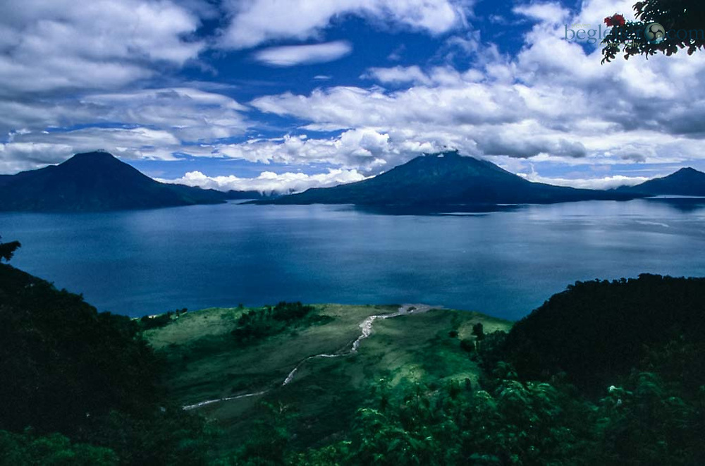 Lake Attilan in Guatamala , Boat