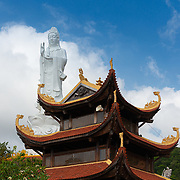 Ho Quoc Temple with Lady Buddha Statue and Pagoda in Front, Phuquoc, Vietnam