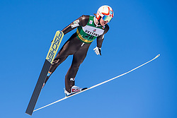 March 2, 2018 - Lahti, Finland - MIKO KOKSLIEN of Norway during a Ski jumping training session ahead of the FIS Nordic Combined World Cup. (Credit Image: © Fredrik Varfjell/Bildbyran via ZUMA Press)